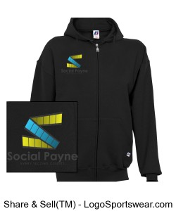 Youth Russell Dri-POWER Hooded Full-Zip Sweatshirt Design Zoom